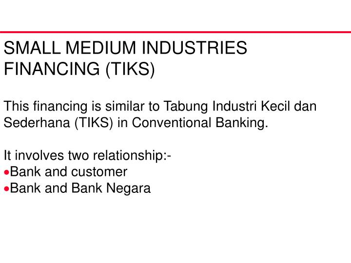 SMALL MEDIUM INDUSTRIES FINANCING (TIKS)