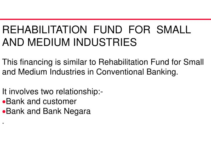 REHABILITATION  FUND  FOR  SMALL AND MEDIUM INDUSTRIES