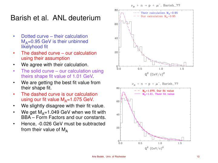 Barish et al.  ANL deuterium