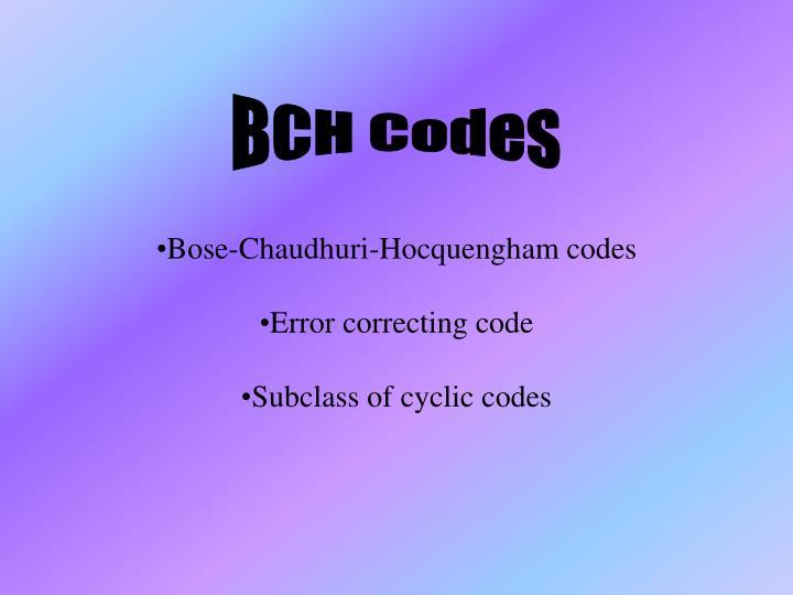 BCH Codes