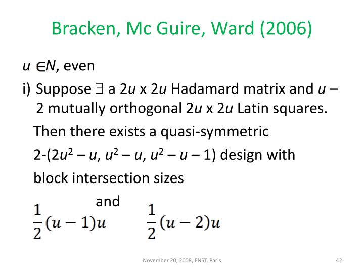 Bracken, Mc Guire, Ward (2006)
