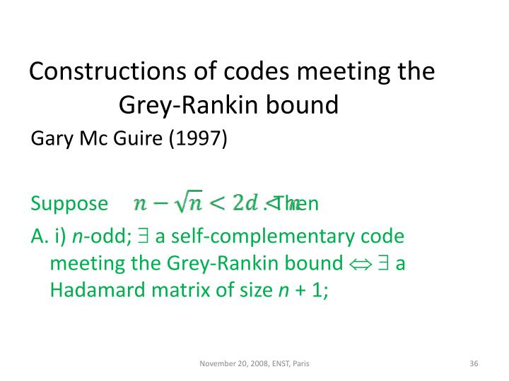 Constructions of codes meeting the Grey-Rankin bound