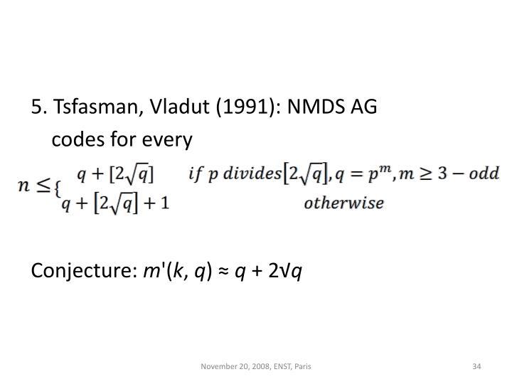 5. Tsfasman, Vladut (1991): NMDS AG