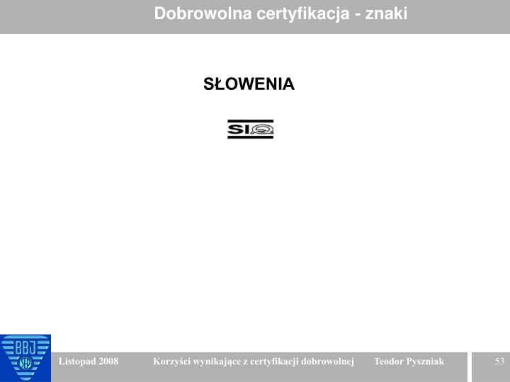 Dobrowolna certyfikacja - znaki