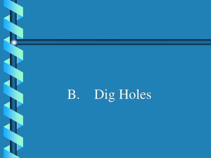 B.    Dig Holes