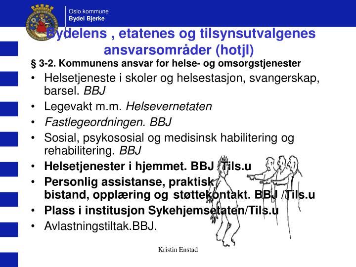 Bydelens , etatenes og tilsynsutvalgenes ansvarsområder (hotjl)