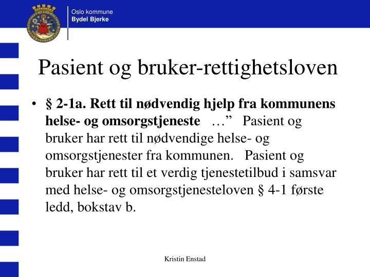 Pasient og bruker-rettighetsloven