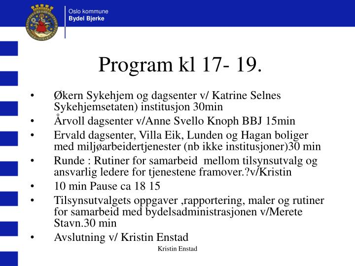 Program kl 17- 19.