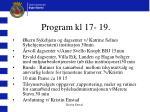 program kl 17 19