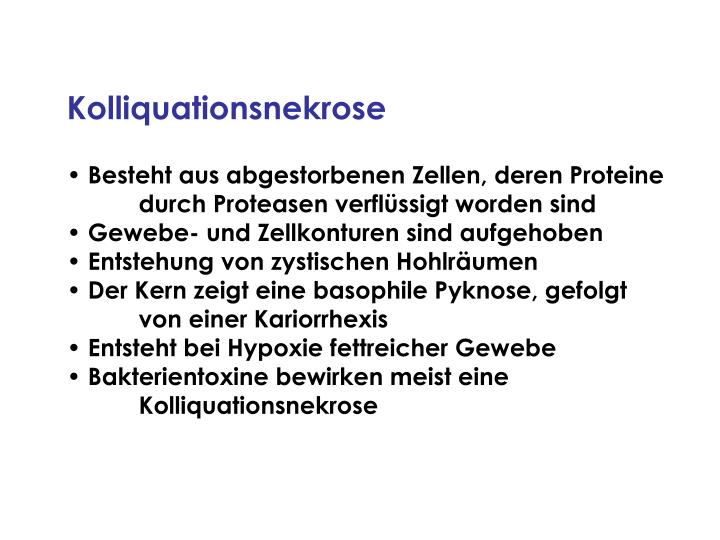 Kolliquationsnekrose