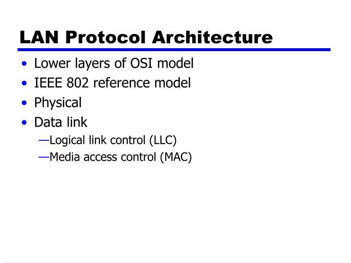 LAN Protocol Architecture