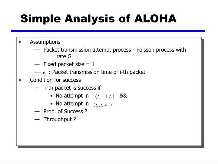 Simple Analysis of ALOHA