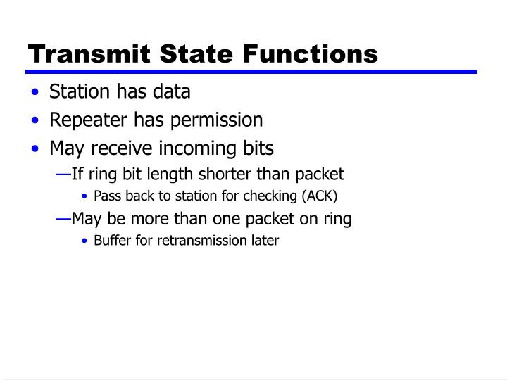 Transmit State Functions