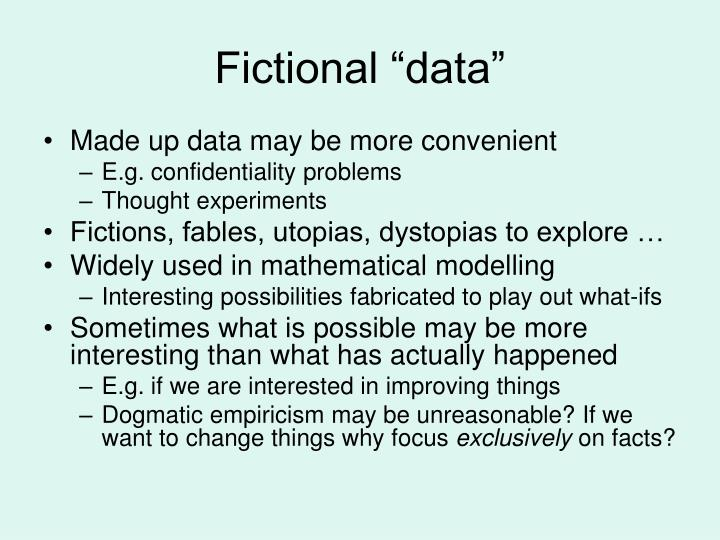 "Fictional ""data"""