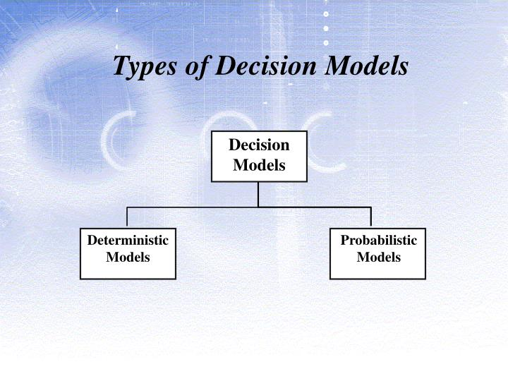 Types of Decision Models