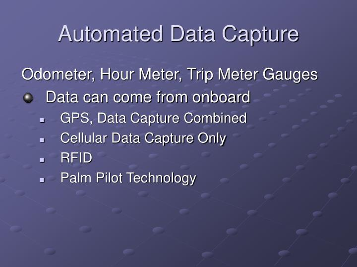 Automated Data Capture