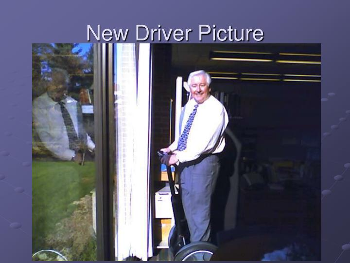 New Driver Picture