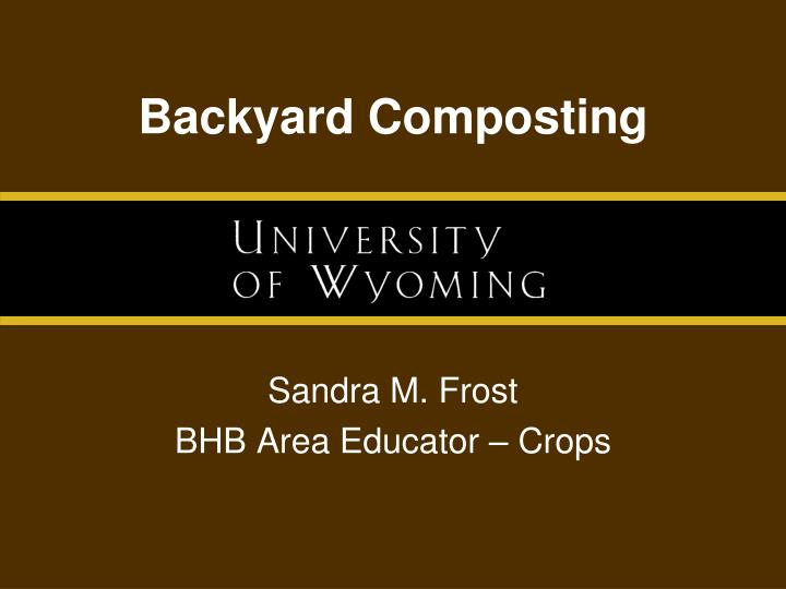 Backyard Composting