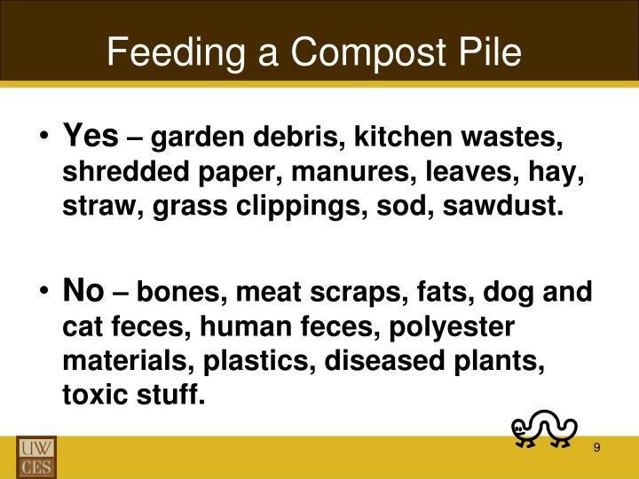 Feeding a Compost Pile