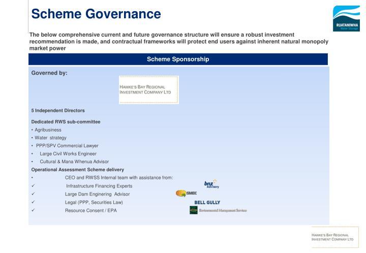 Scheme Governance