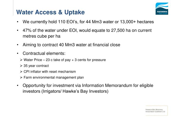 Water Access & Uptake