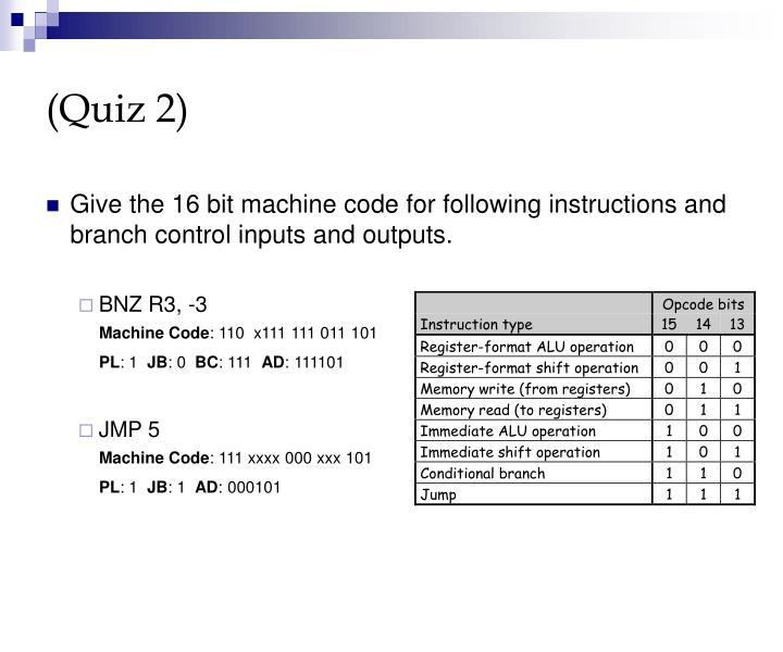 (Quiz 2)