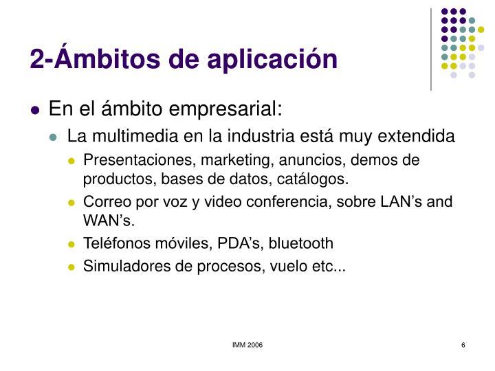 2-Ámbitos de aplicación