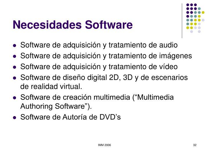 Necesidades Software