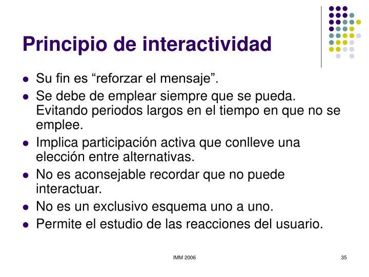 Principio de interactividad