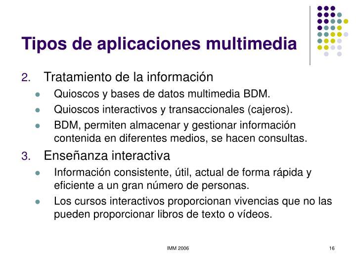 Tipos de aplicaciones multimedia