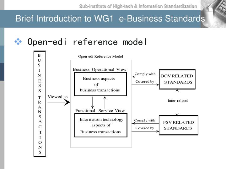 Brief Introduction to WG1  e-Business Standards