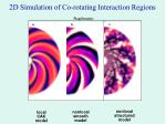 2d simulation of co rotating interaction regions