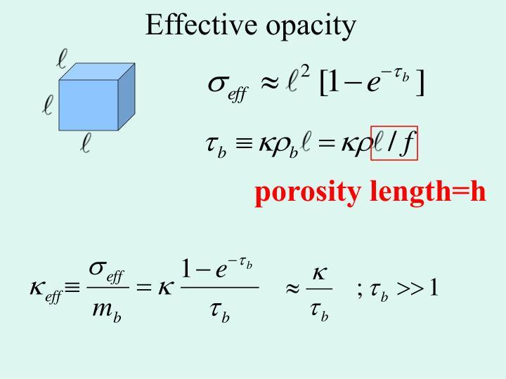 porosity length=h