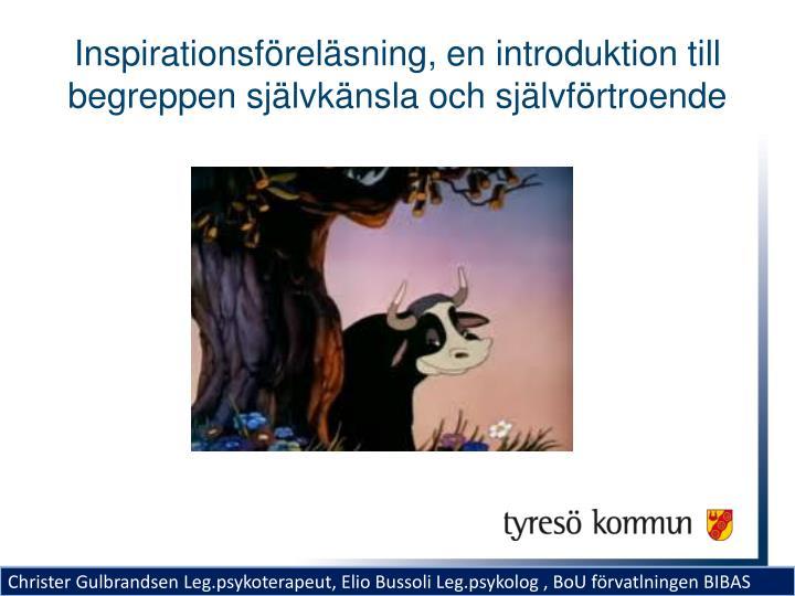 Inspirationsföreläsning, en introduktion till