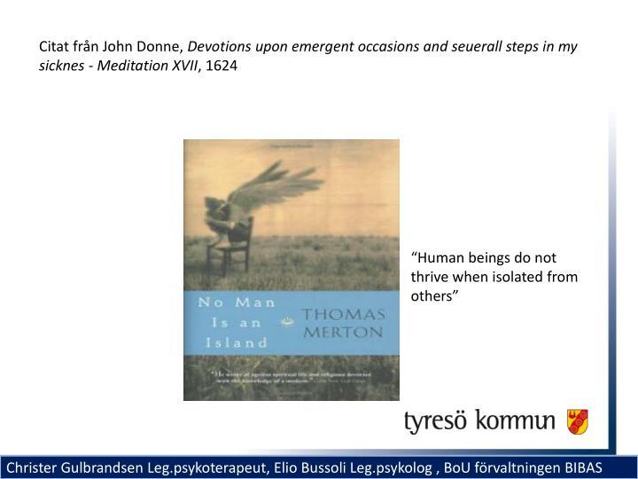 Citat från John Donne,