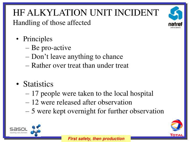 HF ALKYLATION UNIT INCIDENT