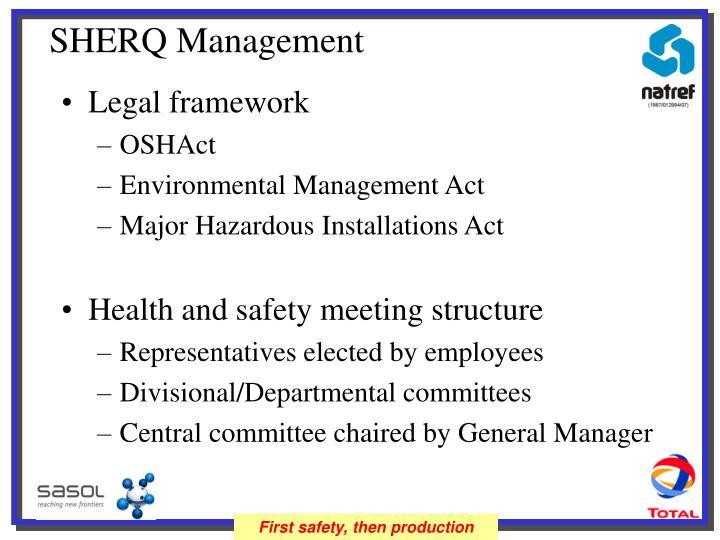 SHERQ Management