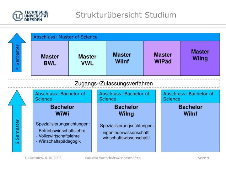 Strukturübersicht Studium