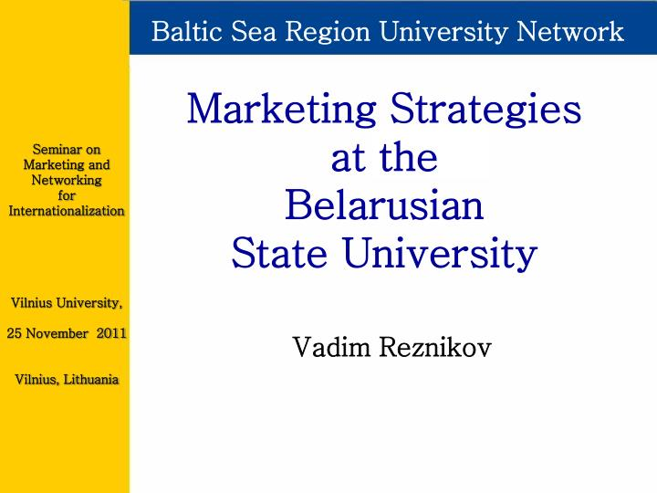 Baltic Sea Region University Network