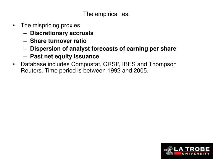 The empirical test