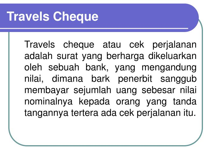 Travels Cheque