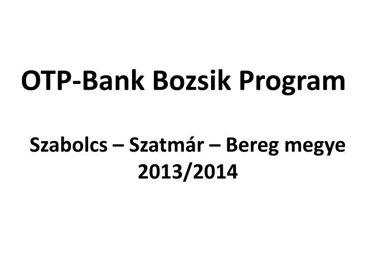 OTP-Bank Bozsik Program