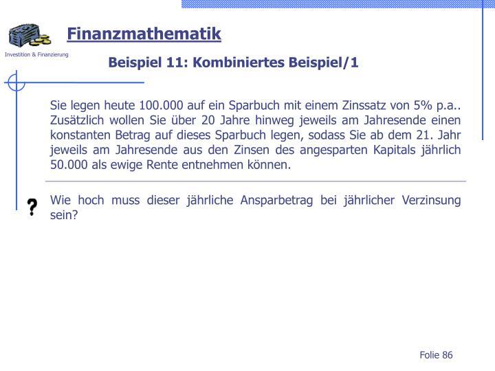 Beispiel 11: Kombiniertes Beispiel/1
