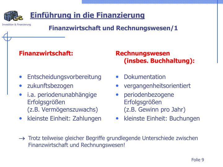 Finanzwirtschaft:
