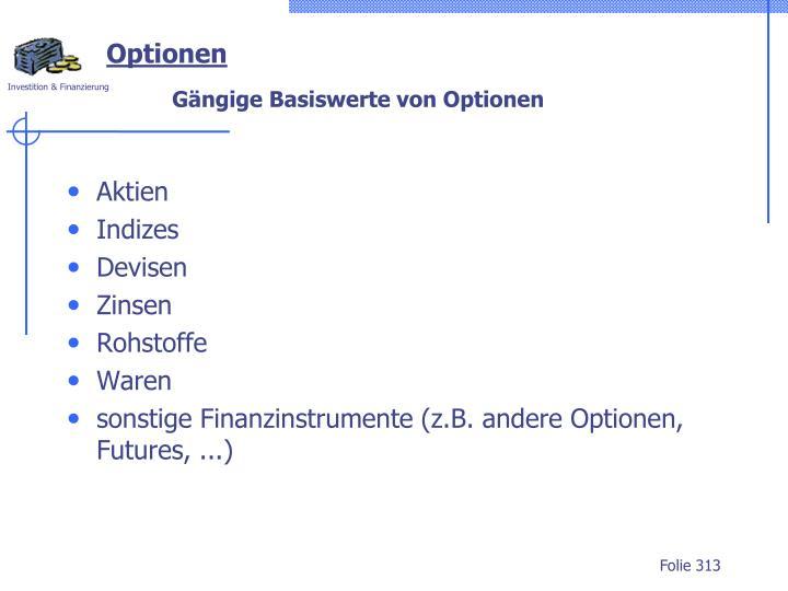 Optionen