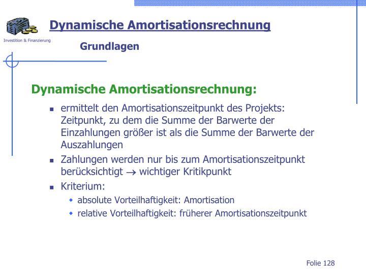 Dynamische Amortisationsrechnung