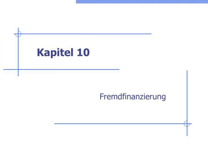 Kapitel 10