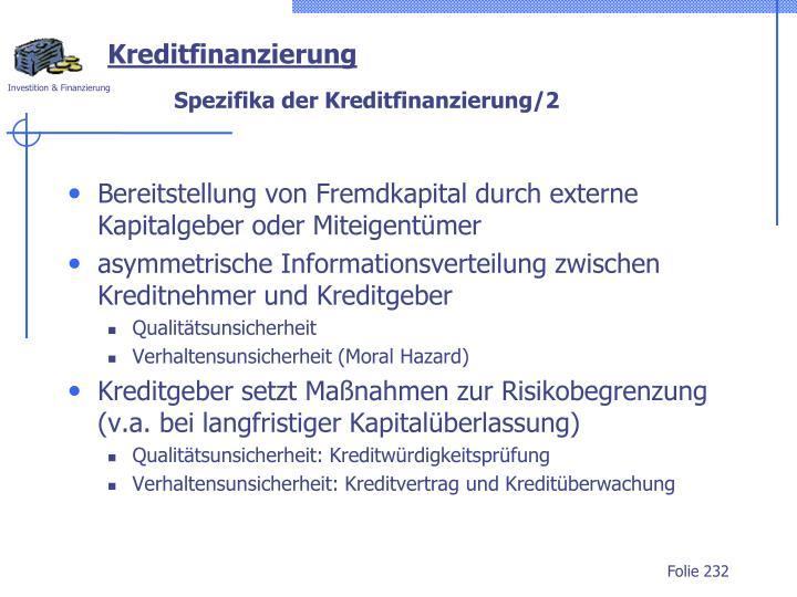 Kreditfinanzierung