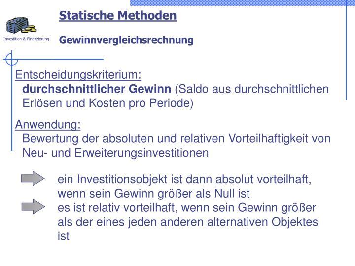 Statische Methoden
