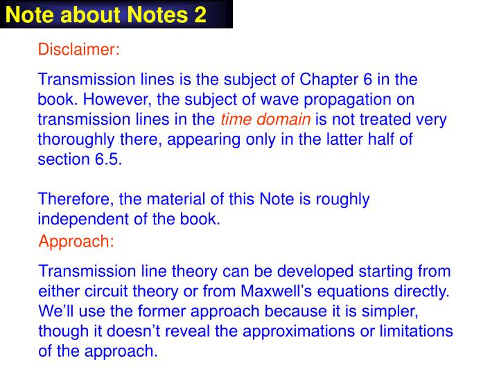 Note about Notes 2